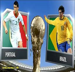 البرازيل والبرتغال مشاهدة بث مباشر وتحميل اهداف المباراة