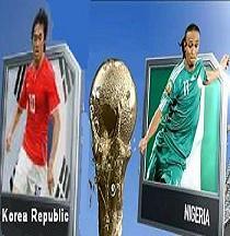 تعادل نيجيريا وكوريا 2-2 تحميل اهداف المباراة