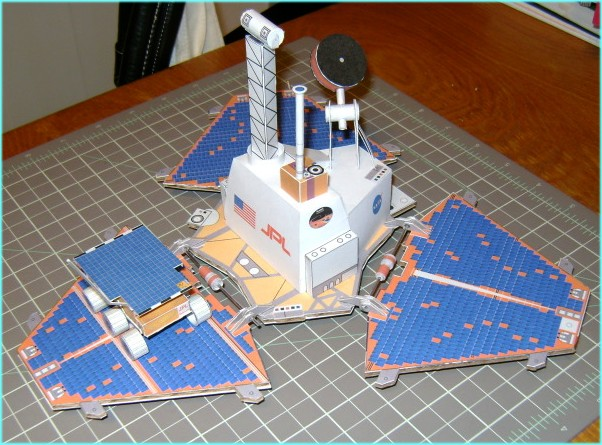 maquette papier mars pathfinder rocky msl curiosity au 1 12. Black Bedroom Furniture Sets. Home Design Ideas