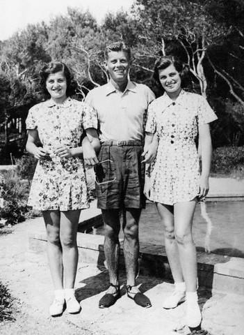 Pat, JFK et Eunice sur la Côte d'Azur (08.1938)