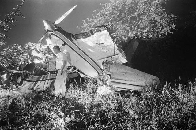 Les restes de l'avion