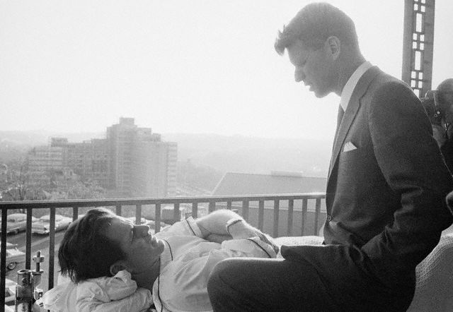 Edward (Ted) Kennedy et son frère Robert F. (Bobby) Kennedy