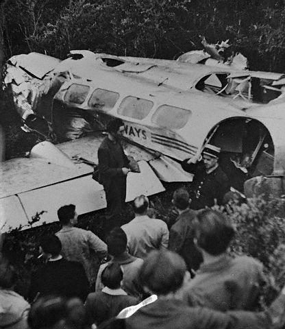 L'épave de l'avion à Sainte-Bauzille - Ardèche (16.05.1948)