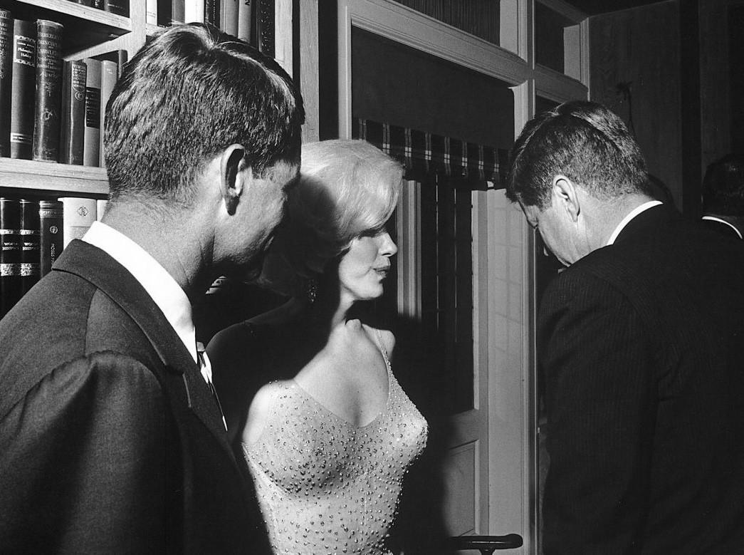 Robert F. (Bobby) Kennedy, Marilyn Monroe et John Fitzgerald Kennedy (19.05.1962)