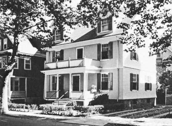 La maison familiale, Beals Street, 83 à Brookline (Massachusetts)