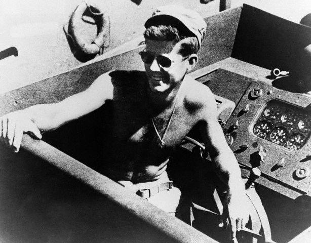 John Fitzgerald Kennedy à bord du PT-109 (1943)