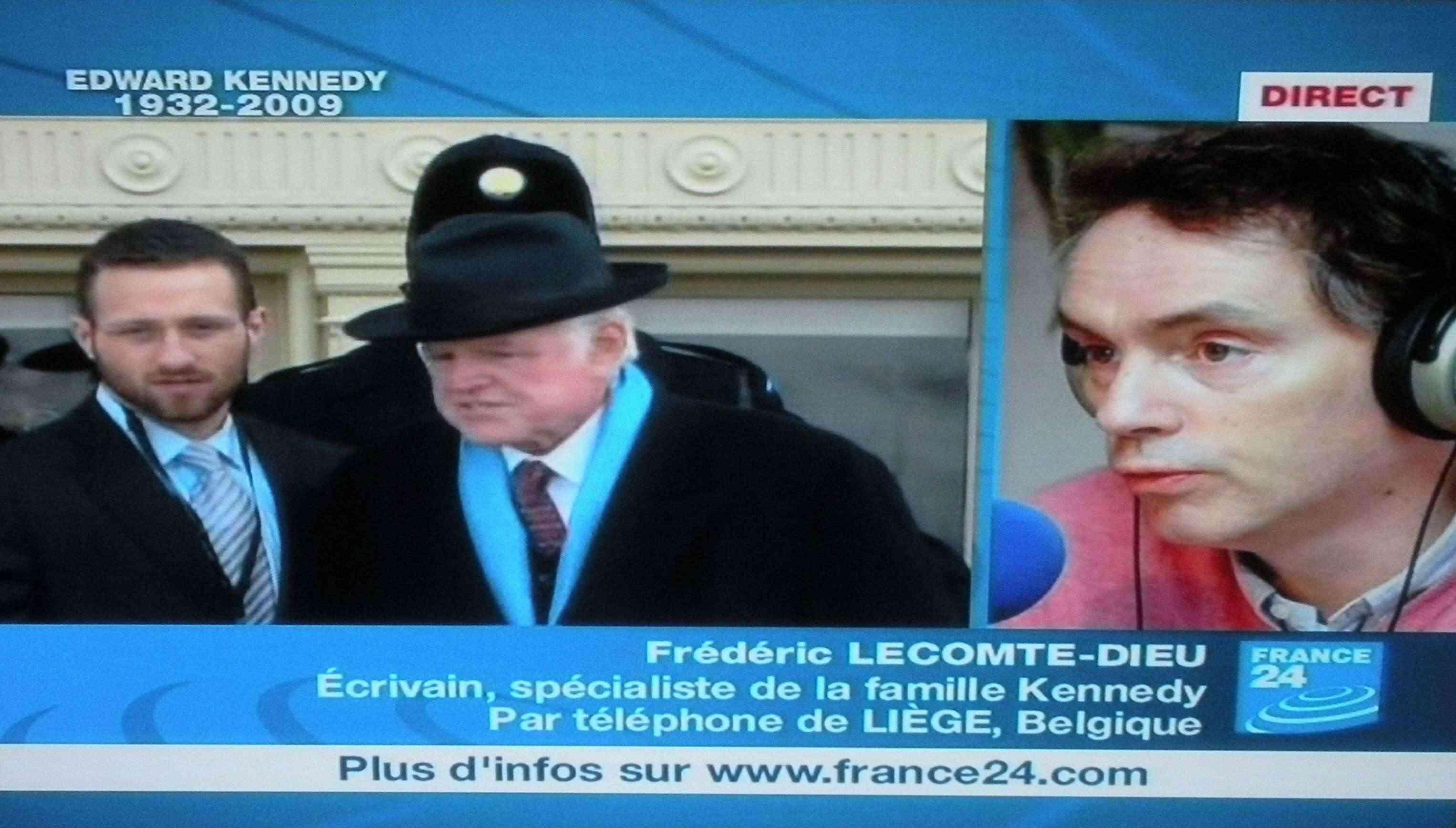 Frédéric Lecomte-Dieu en direct sur la chaîne française France 24 à l'occasion du décès du Sénateur Ted Kennedy (29.08.2009)