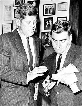 JFK et Pierre Salinger (1961)