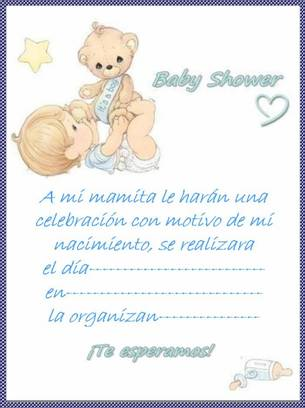Subssigrima Texto Para Invitaciones De Baby Shower