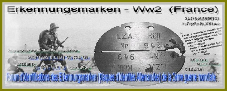 ERKENNUNGSMARKEN WW2 France