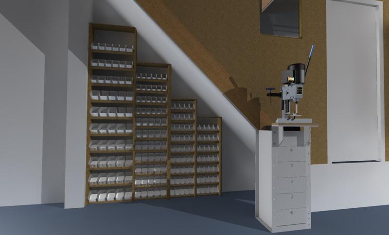 espaces rangements dans l 39 atelier. Black Bedroom Furniture Sets. Home Design Ideas