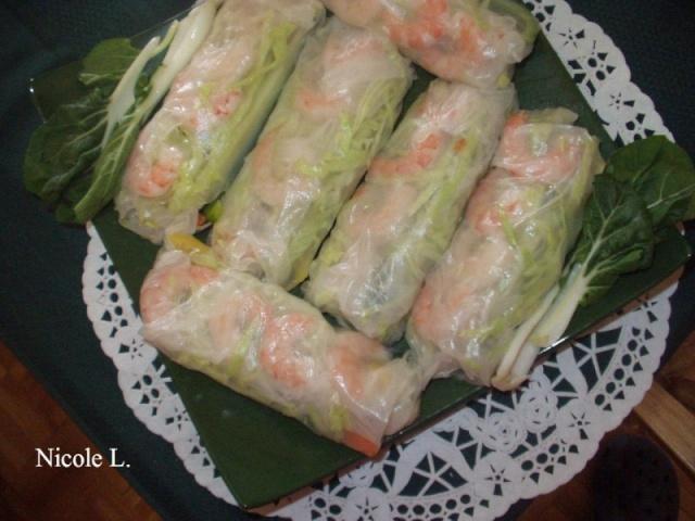Rouleaux de printemps aux crevettes nems vietnamiens Nems vietnamiens