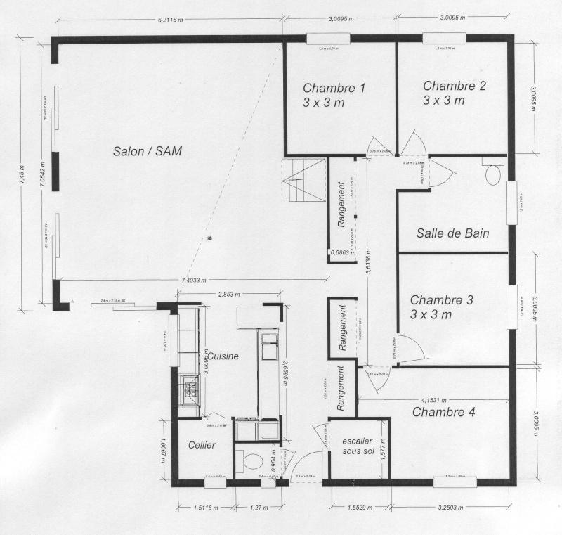 Vos avis sur notre projet 19 messages - Plan maison sans couloir ...