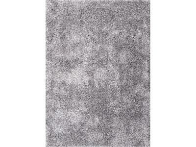 Tapis shaggy noir et blanc for Tapis gris clair poil ras