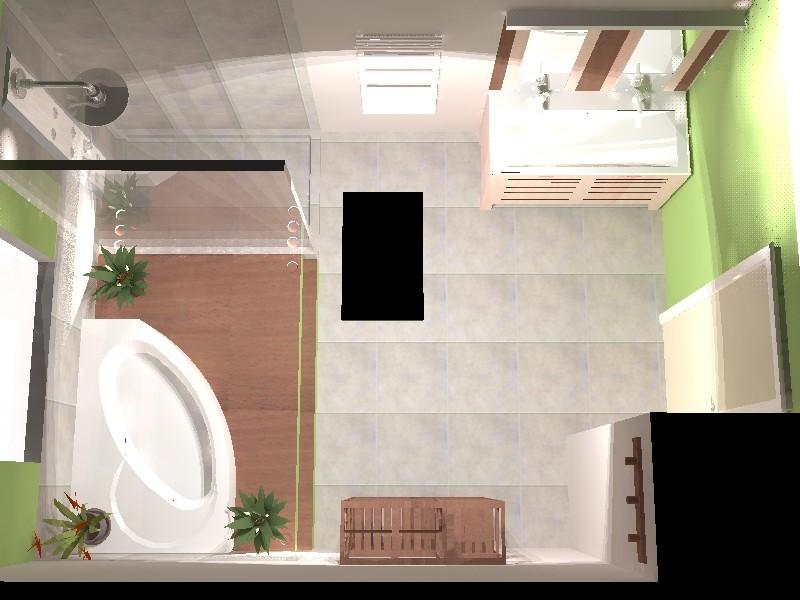 Cr ation salle de bains zen photos page 9 for Idee salle de bain 5m2