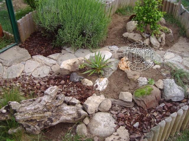 R alisation d 39 un enclos pour tortues des steppes adultes - Image de rocaille ...