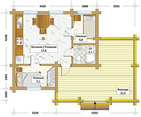 Compagnie des chalets nos produits et services for Plan maison 60m2