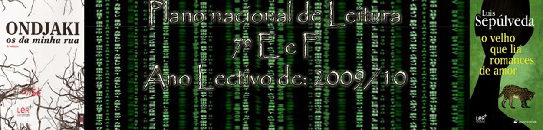 Plano Nacional de Leitura 7ºE/F Alijó