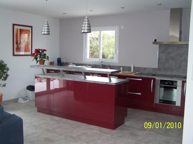 Cuisine moderne bordeau et meuble palissandre sos for Cuisine et salon moderne