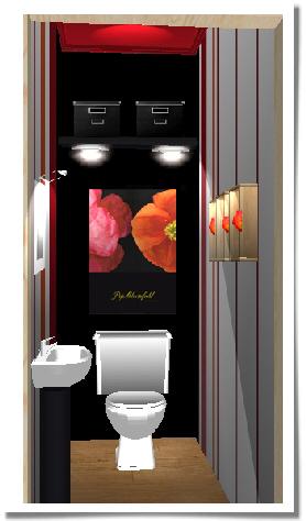 Votre avis sur une simulation de d co wc - Deco wc rood ...