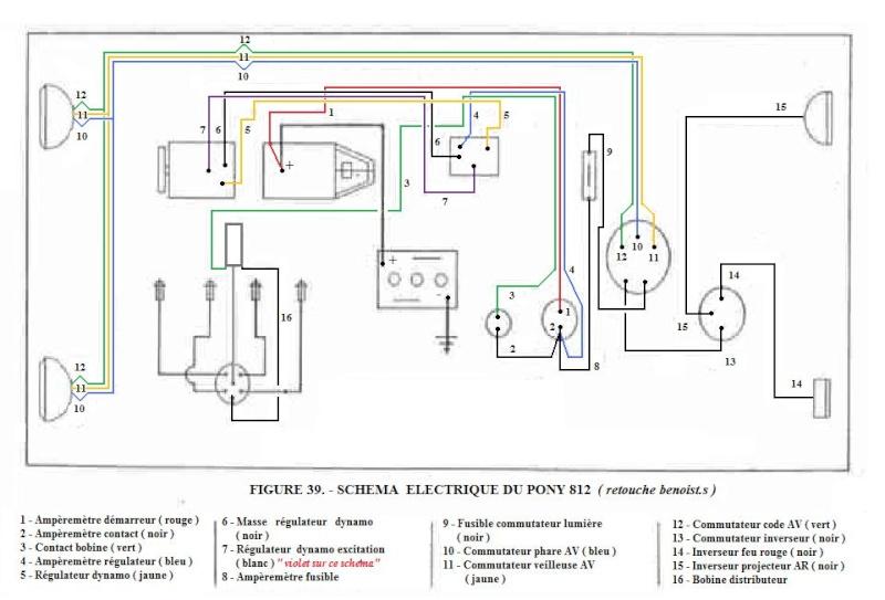 schema electrique pony 812 retouch u00e9