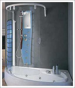 Salle de bain - Baignoire et douche cote a cote ...